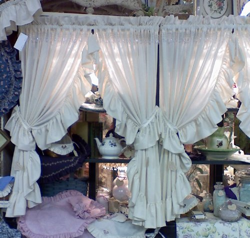 Beaded Ruffled Curtains